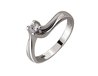 Золота каблучка з діамантами 01-17534083 фотографія