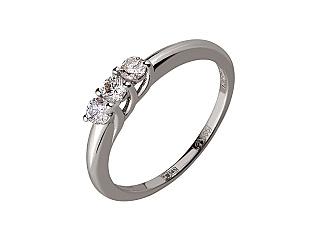 Золотое кольцо с бриллиантом 01-17668683 фотография
