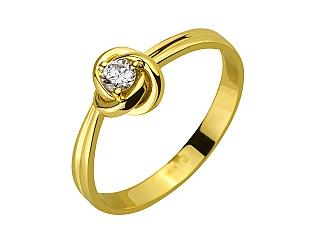 Золота каблучка з діамантом 3б_к-198 фотографія