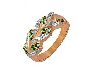 Золотое кольцо с фианитами 8б_к-015 фотография