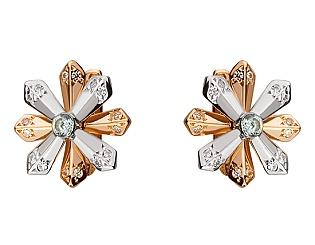 Золоті сережки з фіанітами 01-17236784 фотографія