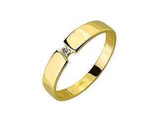 Золота каблучка з діамантом 01-17547984 фотографія