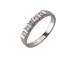 Золота каблучка з діамантом 01-17604184 фотографія
