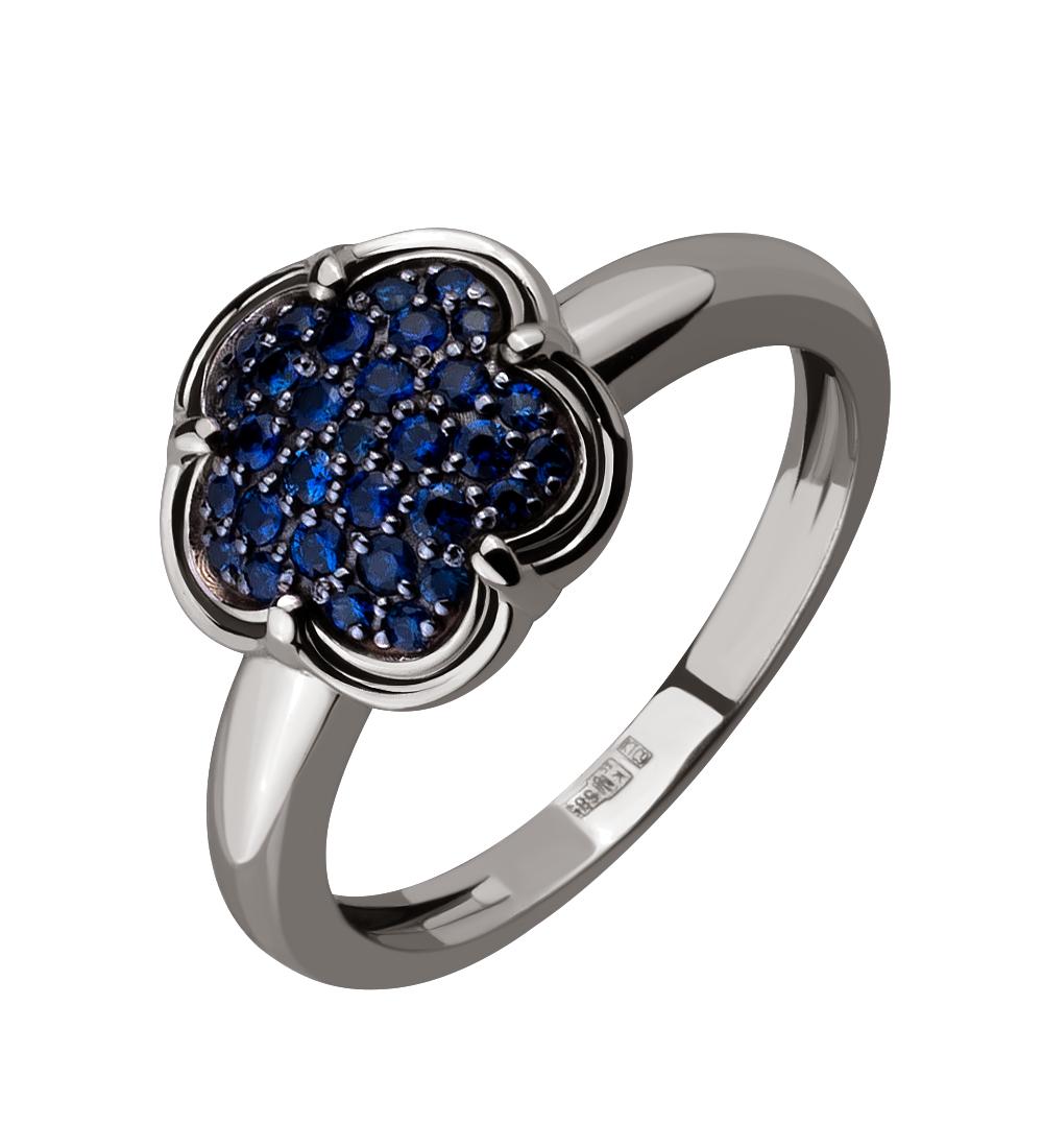 Золотое кольцо с сапфирами (15-000116287)