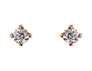 Золоті сережки з фіанітом 1б_с-090 фотографія