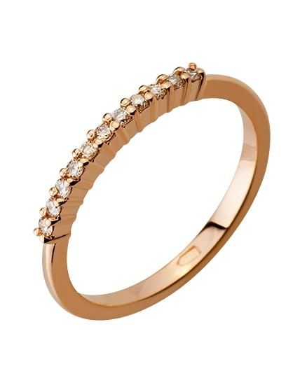 """Золотое кольцо 585 пробы с бриллиантами (15-000087087) """"Ювелирная карта"""""""