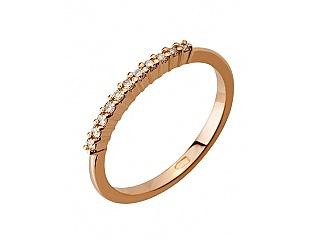 Золота каблучка з діамантами 1б_к-061 фотографія