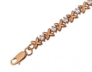 Золотий браслет з фіанітом 01-16307485 фотографія