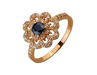 Золотое кольцо с цирконием куб. 01-17522585 фотография