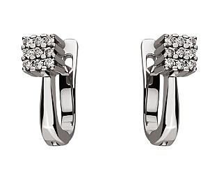 Золоті сережки з діамантом 01-17578985 фотографія