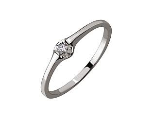 Золотое кольцо с бриллиантом 01-17648385 фотография