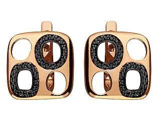 Золоті сережки з цирконієм куб. 10с-152 фотографія