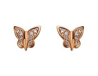 Золоті сережки з діамантами 1с-138 фотографія