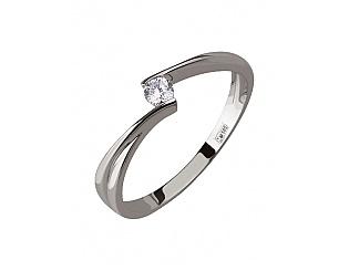 Золотое кольцо с цирконием куб. 2к-079 фотография