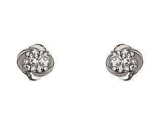 Золоті сережки з цирконієм куб. і фіанітом 2б_с-078 фотографія
