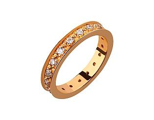 Золотое кольцо с фианитами 1к-014 фотография