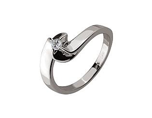 Золотое кольцо с бриллиантом 01-17445886 фотография