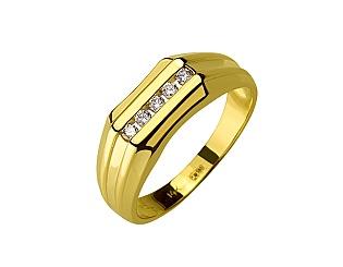 Золота каблучка з діамантами 01-17479286 фотографія
