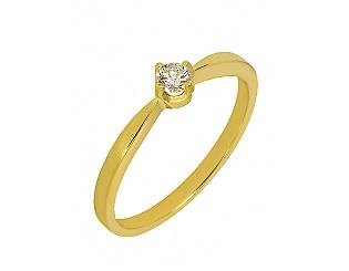 Золота каблучка з діамантами 3к-036 фотографія
