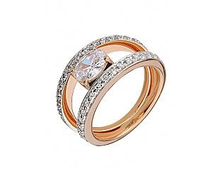 Золотое кольцо с фианитами 8к-269 фотография