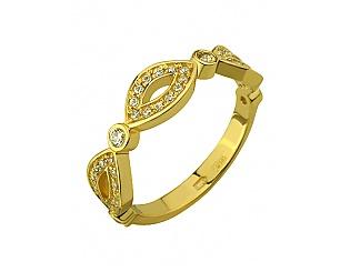 Золотое кольцо с фианитами 3б_к-107 фотография