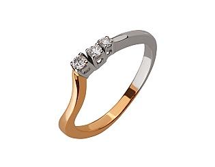 Золота каблучка з діамантами 01-17463587 фотографія