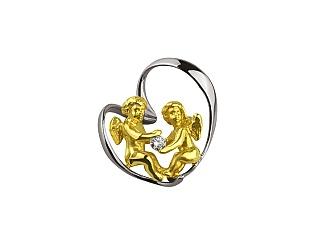 Золотий кулон з діамантами 01-17586587 фотографія