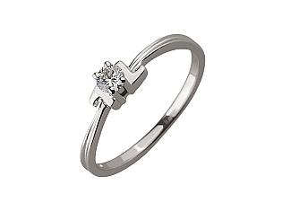 Золота каблучка з діамантом 01-17604187 фотографія