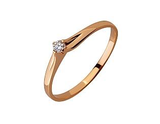 Золота каблучка з діамантом 01-17624587 фотографія