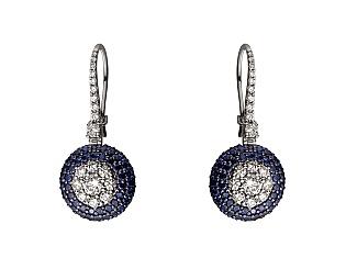 Золоті сережки з сапфірами і діамантами 11б_с-131 фотографія