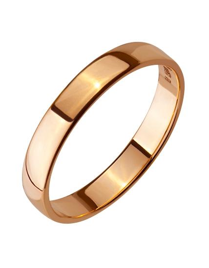 """Золотое обручальное кольцо 585 пробы (15-000086284) """"Ювелирная карта"""""""