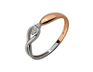 Золота каблучка з діамантом 01-17656488 фотографія
