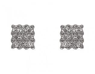Золоті сережки з фіанітами 4-с-436 фотографія