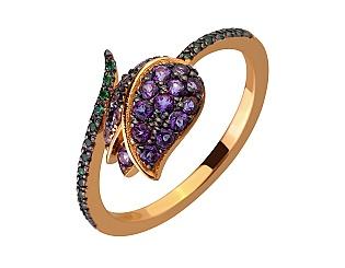Золотое кольцо с топазами 10б_к-176 фотография