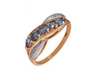 Золотое кольцо с циркониями 4к-218 фотография