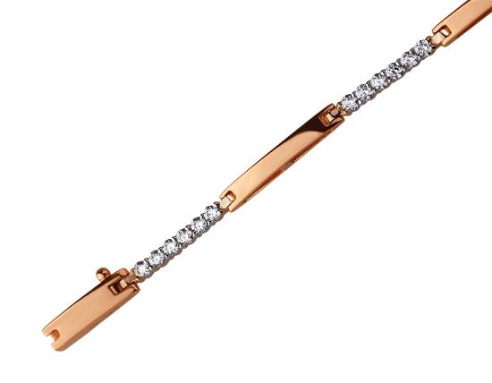 Золотий браслет з фіанітом 4б_б-025 фотографія 1