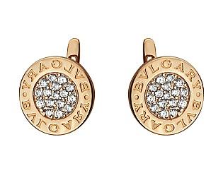 Золоті сережки з цирконієм куб. 1-с-1232 фотографія