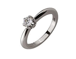 Золотое кольцо с бриллиантом 01-17520189 фотография