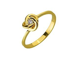 Золота каблучка з діамантами 01-17604189 фотографія