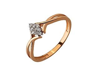 Золотое кольцо с бриллиантами 01-17620789 фотография