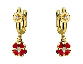 Золоті сережки з діамантом 01-17620889 фотографія