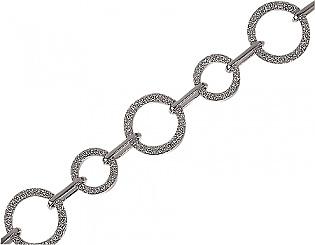 Золотий браслет з діамантами 2б-024 фотографія