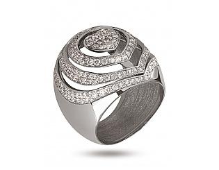 Золота каблучка з діамантами 2б_к-079 фотографія