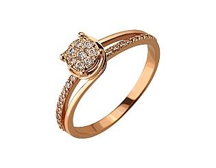 Золотое кольцо с фианитами 01-17182790 фотография