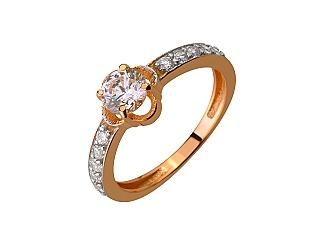 Золотое кольцо с фианитом 01-17346590 фотография