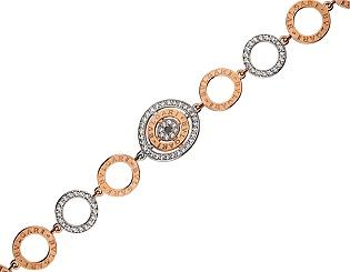 Золотой браслет с циркониями 01-17624590 фотография