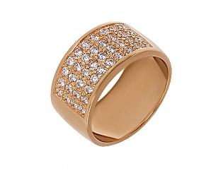 Золотое кольцо с фианитами 1-к-275 фотография
