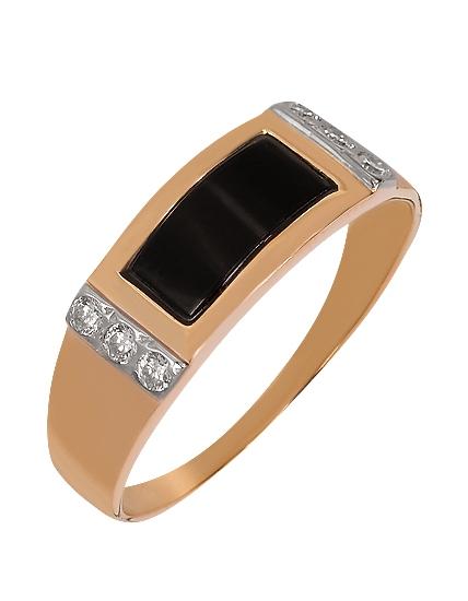 кольцо золотое мужское с камнями