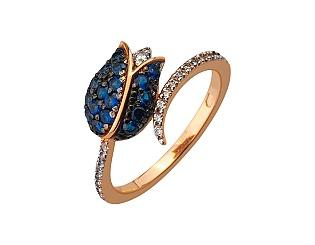 Золотое кольцо с фианитом 13б_к-176 фотография