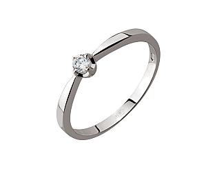 Золотое кольцо с фианитом 2к-036 фотография